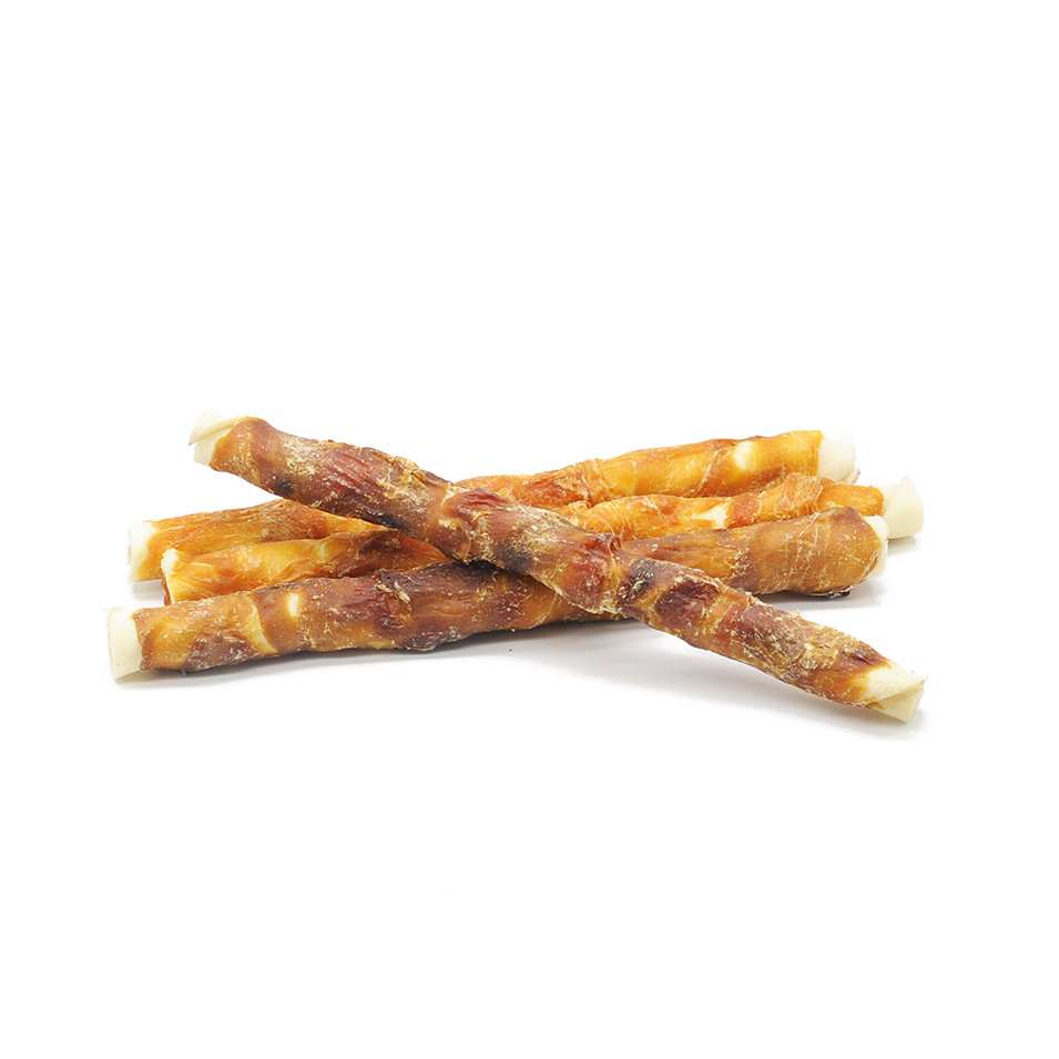 Super Easy Dog Treats Chicken & Duck Meat Rawhide Bones